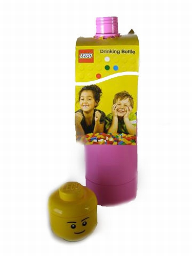 Lego drinkfles rose