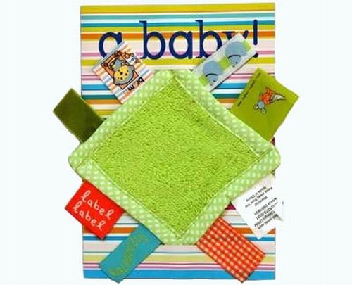 Kaart met groen labeldoekje