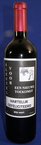 Wijnfles Droge witte wijn Nieuwe woning