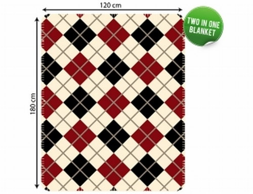 two in one blanked ruiten plaid