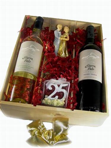 Wijngeschenk 25 jarig huwelijk