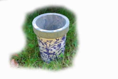 Aged Ceramic long tom bloempot