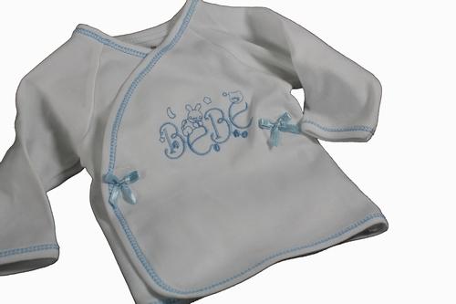 Baby overslaghemdje bé bé blauw