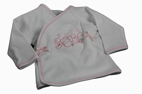 Baby overslaghemdje bé bé roze