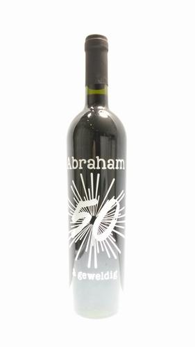 Wijnfles met Abraham opdruk