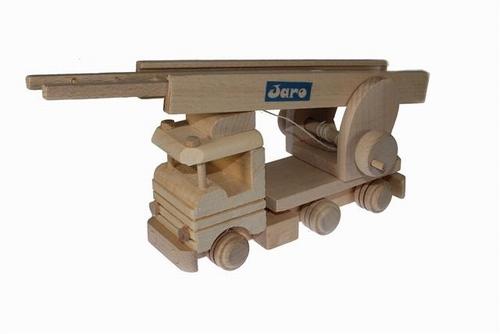 Houten ladderwagen met naam of logo