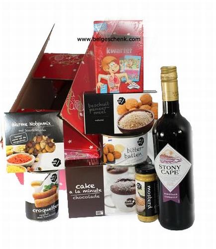 Kerstpakket met logo wijnfles
