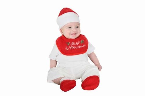 baby kerstslab muts en slofjes