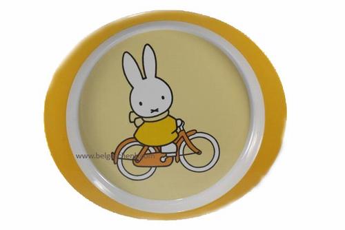 Ontbijtbordje Nijntje op de fiets