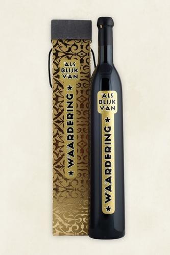 Wijnfles als Blijk van Waardering