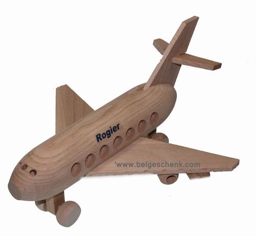Houten Vliegtuig met naam of logo