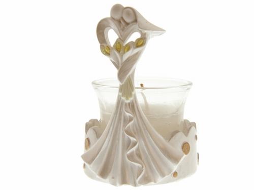 72 stuks Bedankje trouwkoppel modern met kaarsenhouder