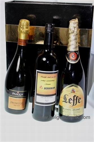 Wijn Bier geschenk met Logo