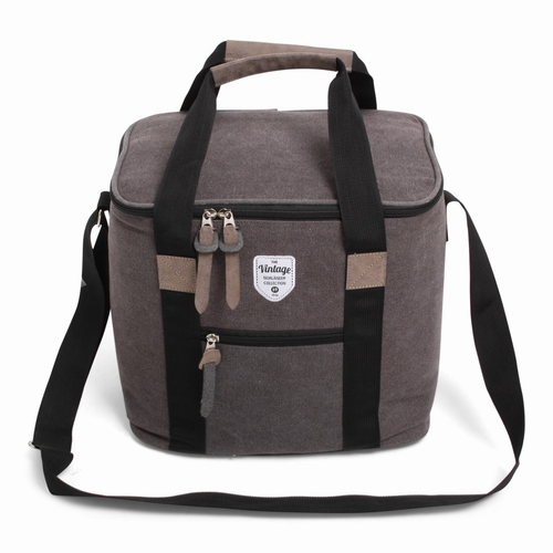 Vintage Canvas Coolerbag grijs