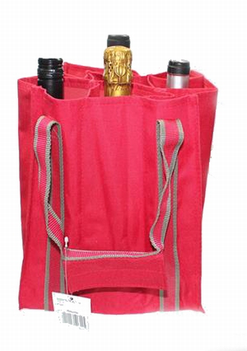 Flessen tas rood