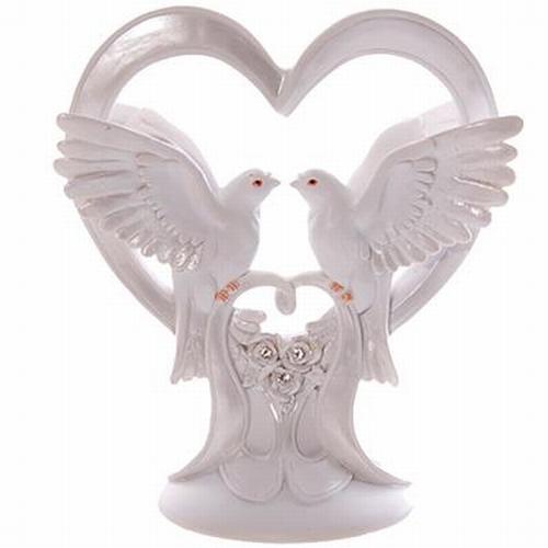 Huwelijk duiven in hart