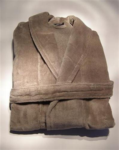 Badjas kleur taupe