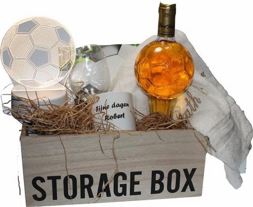 cadeaupakket voetbal met persoonlijke tekst