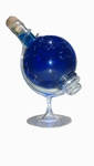 Glazen Wereldbol met Blue Curacao