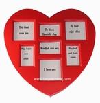 Fotolijst in hartvorm