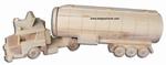 Houten tankwagen groot met naam of logo