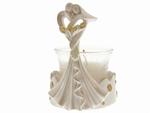 24 stuks Bedankje trouwkoppel modern met kaarsenhouder