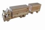 Houten vrachtwagen met aanhanger