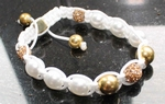 Armband wit en goudkleur
